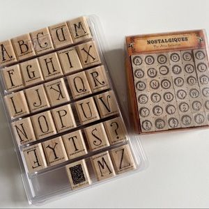 STAMPIN UP Alphabet Stamp Sets LOT